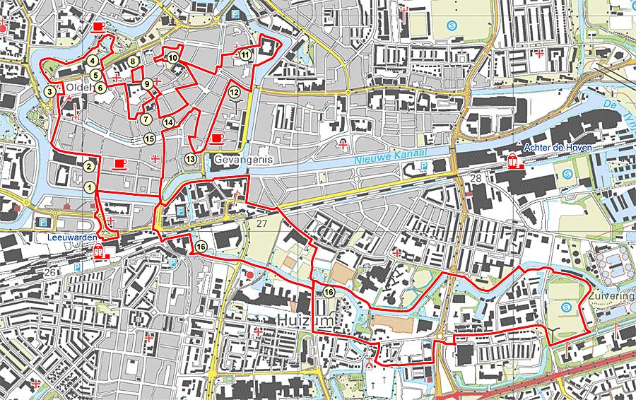 Ns Wandeling Leeuwarden Stadswandeling Friese Hoofdstad